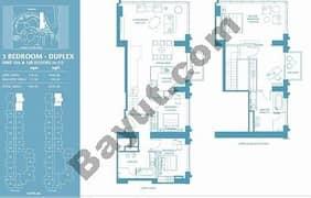 3 Bed dplx Apt 12A & 12B (36th-37th) Floor