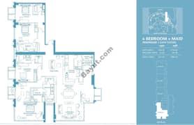 4 Bed Penthouse Apt 1 Plus Maid (38th) Floor