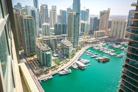 1 Bedroom Flat for Rent in Dubai Marina, Dubai - High Floor | Unfurnished | Marina/JBR view