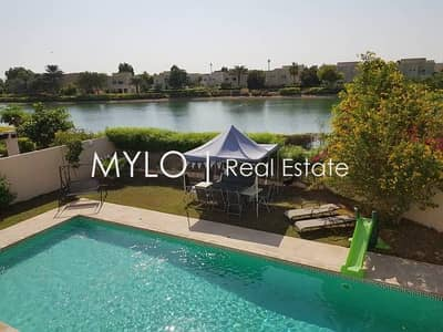 5 Bedroom Villa for Rent in The Meadows, Dubai - Private Pool and Lake View in Meadows 5