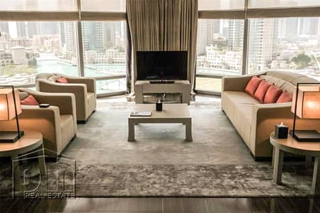 2 Bedroom Flat for Rent in Downtown Dubai, Dubai - Huge Armani Suite | Full View | Furnished | Top of the Range