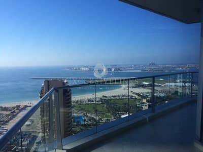 2 Bedroom Flat for Rent in Dubai Marina, Dubai - Great High floor 2 beds in Trident Grand