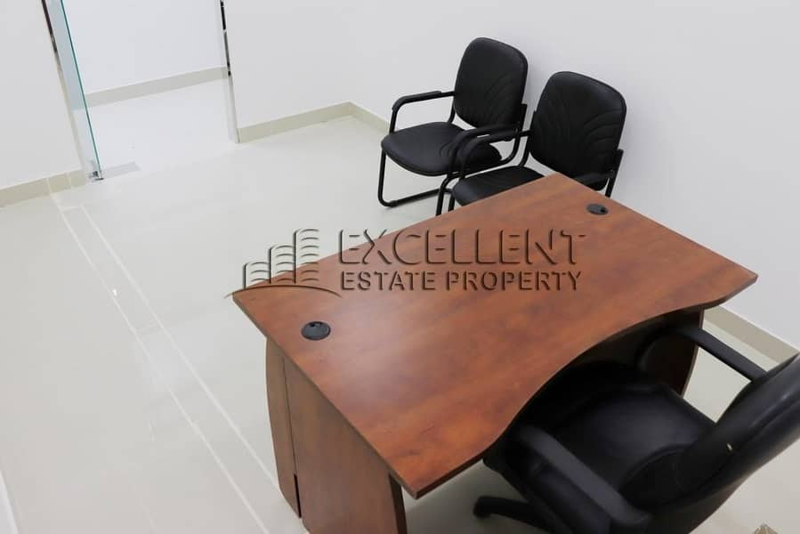 2 Spacious  Semi Furnished Offices with Tawtheeq