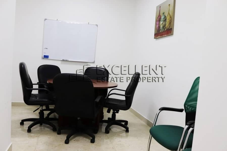 10 Spacious  Semi Furnished Offices with Tawtheeq