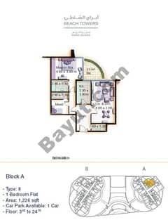 Block A 1 bed Type 8 Floor (3rd-24th)