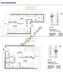 1 Bedroom Apt (6,10)