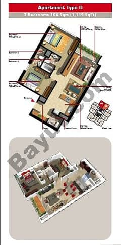 2 Bedroom Apartment Type D