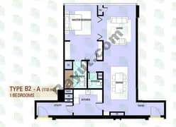 1 BR Type B2 - A
