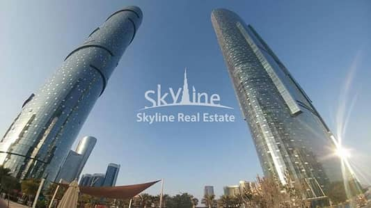 2 Bedroom Apartment for Sale in Al Reem Island, Abu Dhabi - Hot deal! Sea view 2 BR Apt with study room