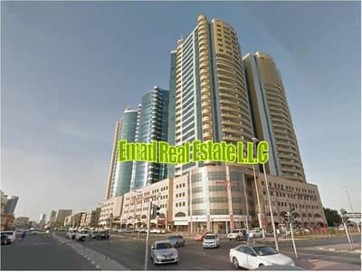 2 Bedroom Apartment for Rent in Ajman Downtown, Ajman - Horizon Towers: SEA VIEW, 2Bed Hall with Parking Luxurious (1700 sqft)