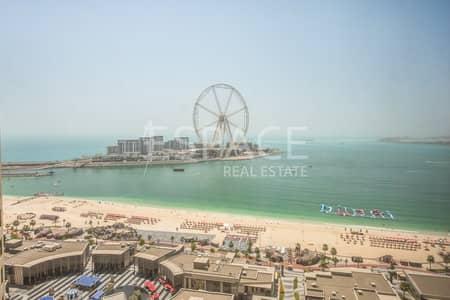 فلیٹ 3 غرفة نوم للبيع في مساكن شاطئ جميرا (JBR)، دبي - 3 Bedrooms | Marina and Sea View | Rimal JBR