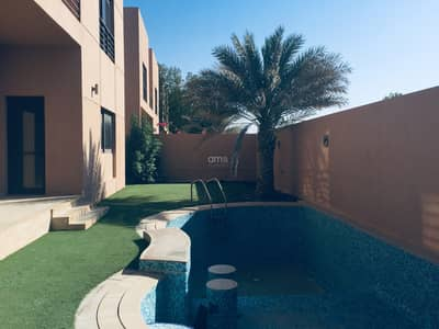 4 Bedroom Villa for Rent in Khalifa City A, Abu Dhabi - Beautifully landscaped villa with Pool