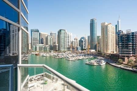 2 Bedroom Flat for Rent in Dubai Marina, Dubai - 2BR with full Marina views-Available now