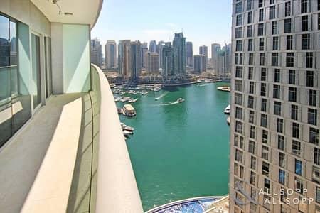 1 Bedroom Apartment for Rent in Dubai Marina, Dubai - Vacant | Marina and Sea View | New Tower