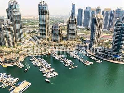 3 Bedroom Apartment for Sale in Dubai Marina, Dubai - Full Marina View  3 Parking   High Floor