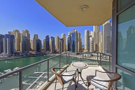 2 Bedroom Flat for Rent in Dubai Marina, Dubai - 2BR + Study Big Layout | Chiller Free | Unfurnished