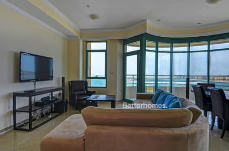 2 Bedroom Flat for Rent in Dubai Marina, Dubai - Sea View Furnished | Balcony Marina Crown