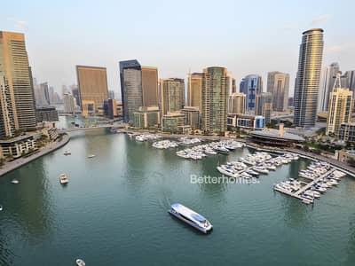 3 Bedroom Apartment for Rent in Dubai Marina, Dubai - Marina View   Furnished   with Balcony