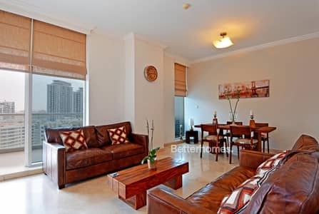 2 Bedroom Apartment for Rent in Dubai Marina, Dubai - Fully Furnished | Marina View | Balcony | 2 Car spaces