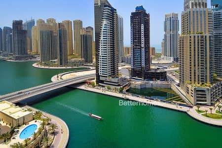 3 Bedroom Apartment for Rent in Dubai Marina, Dubai - Full Marina View | 3bed+Maid | Low Floor