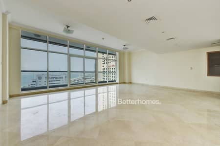 3 Bedroom Flat for Rent in Dubai Marina, Dubai - Maid's | High Floor | Full Sea & Marina