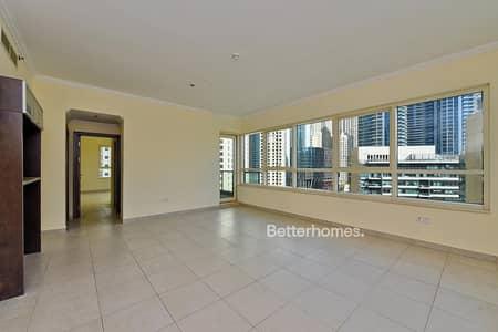 2 Bedroom Flat for Rent in Dubai Marina, Dubai - Beautiful Marina View 2Br With Balcony in Marina Quay Dubai Marina