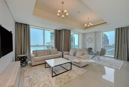 1 Bedroom Flat for Rent in Dubai Marina, Dubai - Deluxe 1BR| Fully Furnished | Sea view| Al Dar