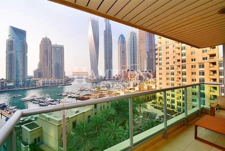 2 Bedroom Flat for Sale in Dubai Marina, Dubai - Full Marina View 2BR plus Study | Al Yass