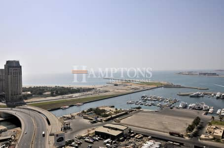 3 Bedroom Apartment for Rent in Dubai Marina, Dubai - Full Sea View | Mid Floor | Unfurnished