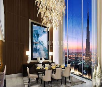 2 Bedroom Apartment for Rent in Downtown Dubai, Dubai - Fountain & Burj Khalifa View 2BR | Address