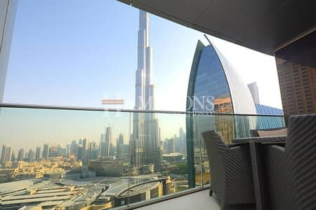 2 Bedroom Flat for Rent in Downtown Dubai, Dubai - Spacious | Furnished 2BR | Full Burj View