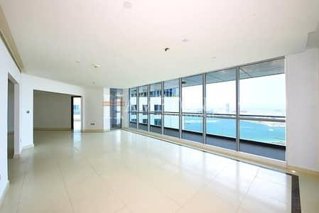 3 Bedroom Flat for Rent in Dubai Marina, Dubai - High Floor | Palm and Media City View
