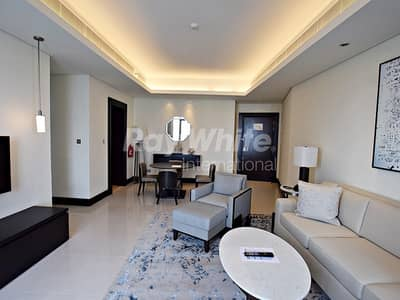 1 Bedroom Apartment for Rent in Downtown Dubai, Dubai - Fountain View Luxury 1 Bed Serviced Apt.