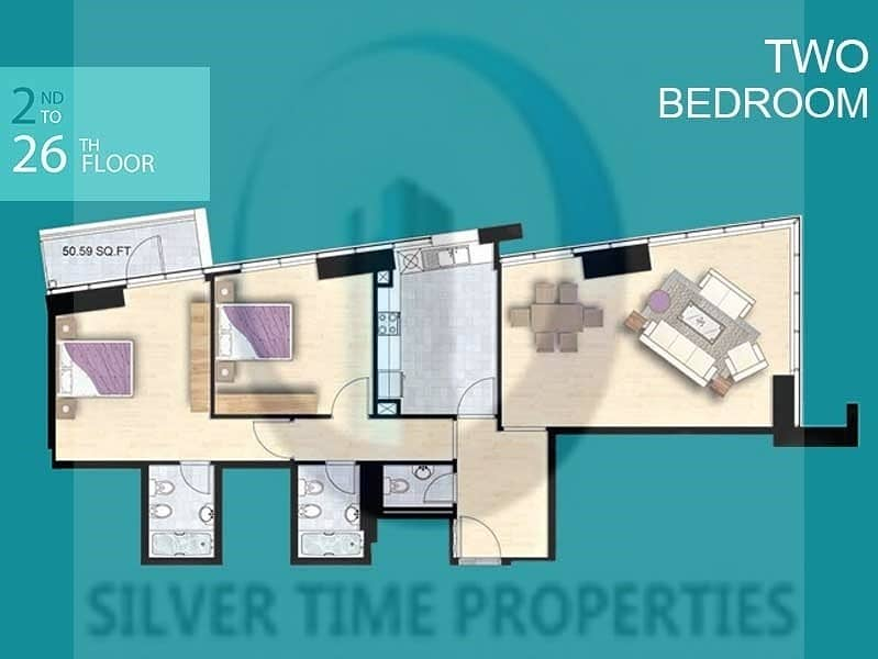 11 Amazing Bright 2BR | Hot Offer | Must See At JVT !!!