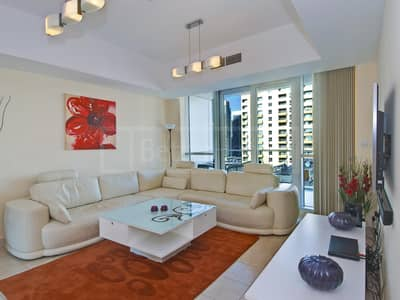 1 Bedroom Flat for Rent in Dubai Marina, Dubai - Furnished 1 Bed with Balcony in The Waves Tower