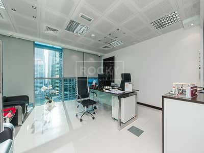 Office for Sale in Jumeirah Lake Towers (JLT), Dubai - Italian Furnished | 2 Glass Partitions | Indigo Icon