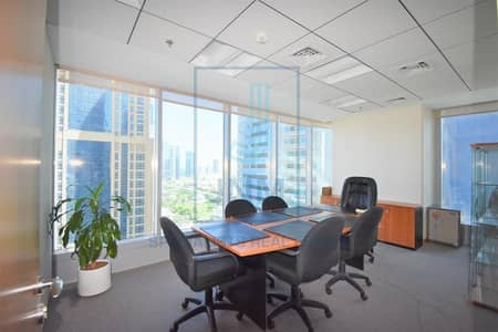 Office for Rent in Jumeirah Lake Towers (JLT), Dubai - Exceptional fitted office In Saba Tower 1