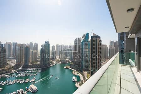 3 Bedroom Apartment for Rent in Dubai Marina, Dubai - Vacant|3BR with outstanding Marina views