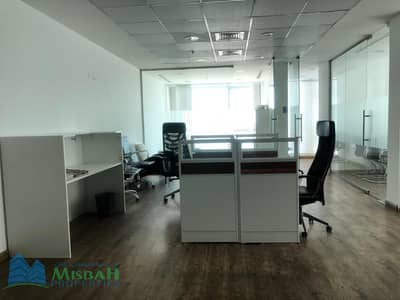 Office for Rent in Al Qusais, Dubai - FULLY FURNISHED 1335sq.ft OFFICE can pay in 6 CHEQUES near NMC