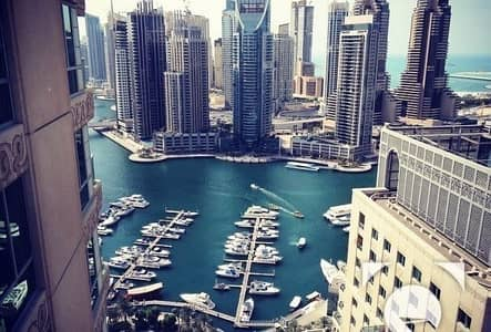 2 Bedroom Flat for Rent in Dubai Marina, Dubai - High Floor   Fully Furnished   6 Cheques