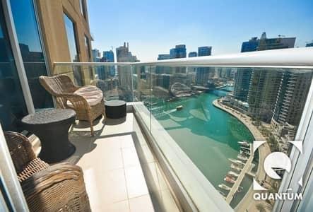 1 Bedroom Flat for Rent in Dubai Marina, Dubai - Partial Marina View | High Floor |Vacant
