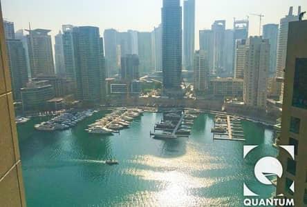 2 Bedroom Flat for Rent in Dubai Marina, Dubai - Marina View|Upgraded Floor|EMAAR|AC Free