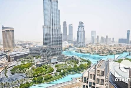 2 Bedroom Flat for Rent in Downtown Dubai, Dubai - Burj and Fountain View | Great Layout