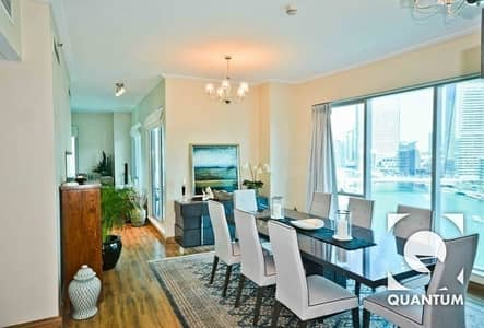 3 Bedroom Apartment for Rent in Dubai Marina, Dubai - Upgraded I Full Marina View I Chiller Free