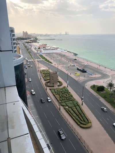 2 Bedroom Flat for Sale in Corniche Ajman, Ajman - Price of two rooms and a lounge in the Corniche Tower Direct sea view