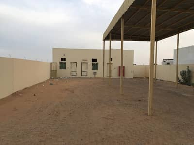2 Bedroom Industrial Land for Rent in Al Saja, Sharjah - 5000 sqft land 3 phase power open shed 2 room boundary wall in saja sharjah