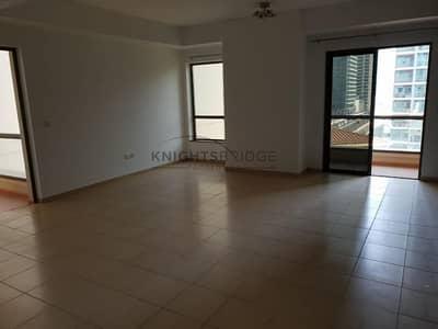 1 Bedroom Flat for Rent in Jumeirah Beach Residence (JBR), Dubai - HUGE LAYOUT|UNFURNISHED|HIGH FLOOR