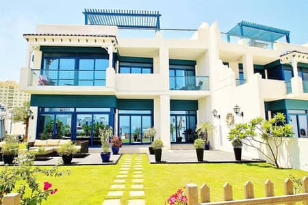 5 Bedroom Villa for Rent in Palm Jumeirah, Dubai - 5 Bed plus maids Corner Unit | Unfurnished |