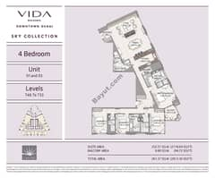 4 bedrooms, unit 1, 3, levels T48 to T53