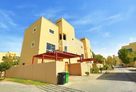 4 Bedroom Townhouse for Sale in Al Raha Gardens, Abu Dhabi - Single Row Unit 4BR Townhouse Type A with huge lawn.